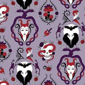 Gothic Damask - Purple passion