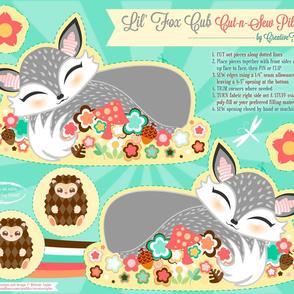 Cut N Sew Baby Fox Cub Grey
