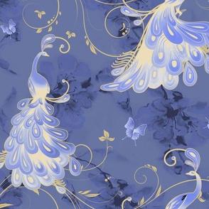 White Peacocks _Stormy Blue