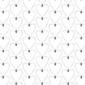Two Birds on a Heart Print Pattern (Mini Scale)