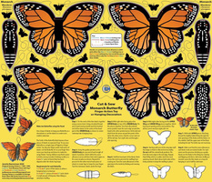 Monarch Butterfly Toy Decoration Cut and Sew