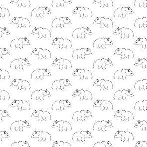 Illustrated Bear Print Pattern (Mini Scale)