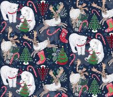 Maximal Animal Folk Art Reindeer