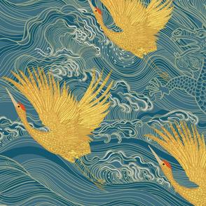 Three Golden Cranes