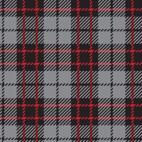 Black Red Gray Plaid