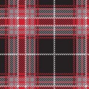 Black Red Plaid Large