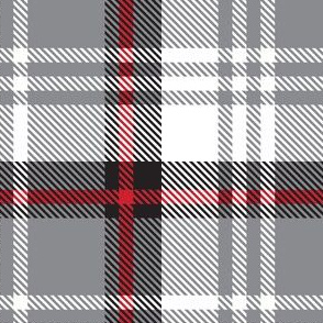 White Gray Red Plaid
