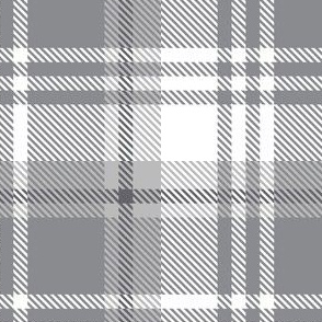 Gray White Plaid