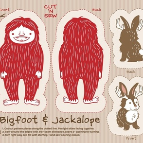 Bigfoot & Jackalope Cut and Sew