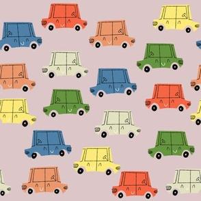 Retro Cars Parking Lot