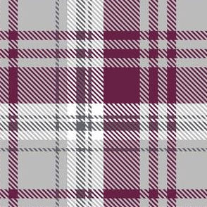 Maroon Gray Plaid