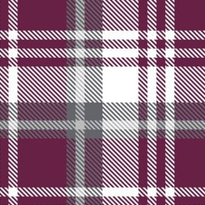 Maroon White Plaid