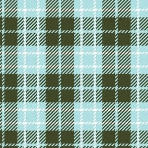 Pale Blue Olive Green Plaid