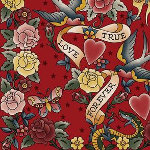 Tattoo me Tattoo you Red 24x24