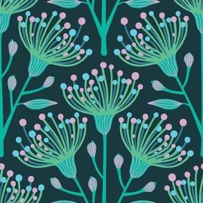 Australian Eucalyptus in Aqua Blue Turquoise Green Pink-LARGE Scale - UnBlink Studio by Jackie Tahara