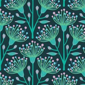 Australian Eucalyptus Aqua Blue Turquoise Green Pink-SMALL Scale - UnBlink Studio by Jackie Tahara
