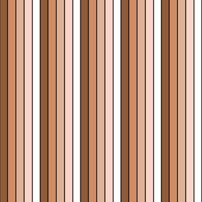 Candy Stripes (vertical with black) - S