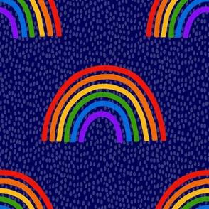 Rainbows on Blue