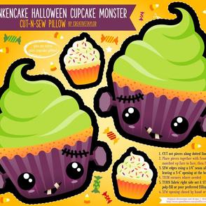 Cut N Sew Frankencake Halloween Pillow