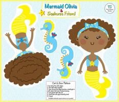 Mermaid Plushie--Olivia