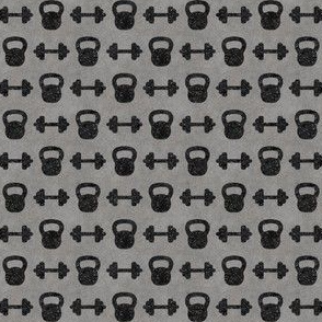 Kettle bells black Smooth Concrete - small scale