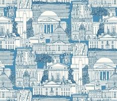 Washington DC toile blue