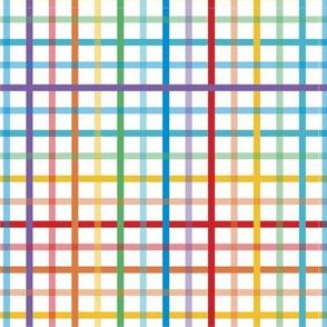 Pride Plaid - Medium Stripe | Bright
