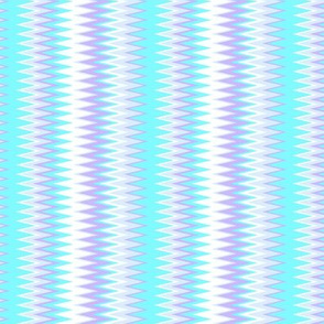 cool beach color stripes in chevron zigzags in shades of blue and purple colors (Mini Scale)