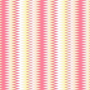 beach inspired chevron zigzag stripes in shades of pink & yellow colors (Mini Scale)