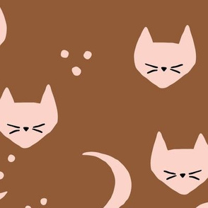 Cats and Moons (dark) - L