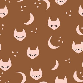 Cats and Moons (dark) - M