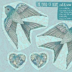 The Bird of Hope Cut & Sew {Blue}