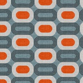 Tweedy mid century ovals-slate