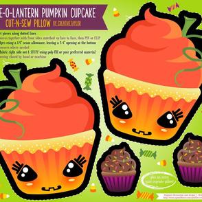 Cut N Sew Cake-O-Lantern Halloween Pillow