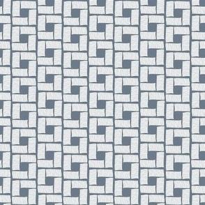 Modern Bricks- White On Gray