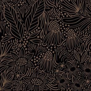 Ehpopoki style, large, black & gold