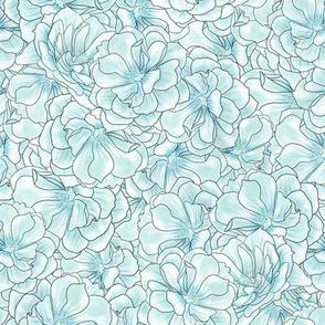 Roses. Blue