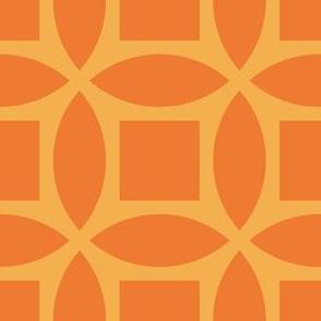 Geometric Pattern: Intersect Square: Citrus