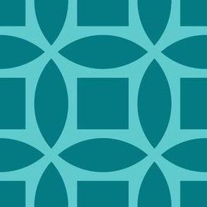Geometric Pattern: Intersect Square: Ocean