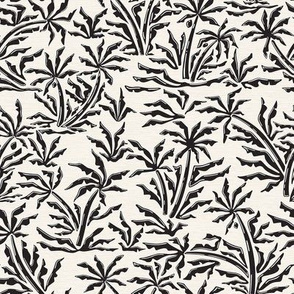 Retro Tropicana - Palms in Black and Ivory / Small