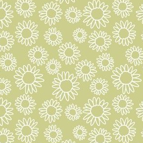 Ditzy Daisies in Light Green