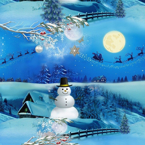 Chrismas Winter Holiday Celebration with a snowman