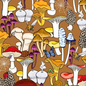 My favorite Fungi - Brown Background