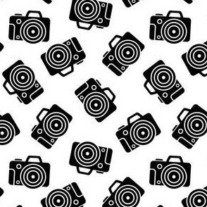 DSLR Camera Black on White