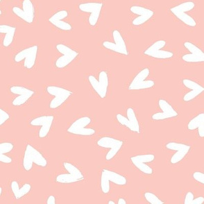 little love hearts (pink) - L