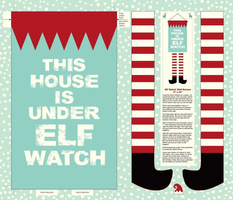 Elf Watch Wall Banner