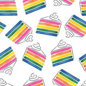 rainbow cake toss