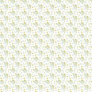 Yellow Floral Splash on white