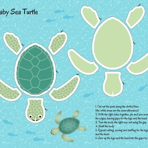 Baby Sea Turtle cut-and-sew Fat Quarter