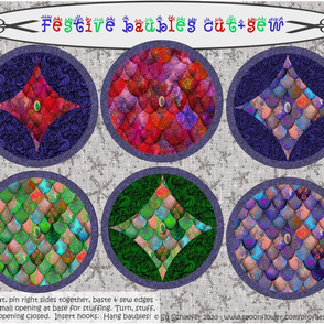 """Festive baubles cut + sew for 42"""" wide fabrics ONLY,  by Su_G_©SuSchaefer"""